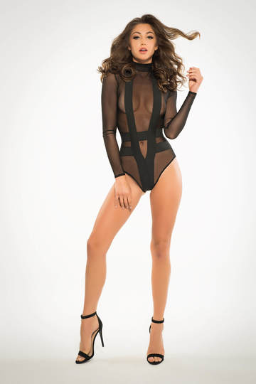 Skye Seductively Sheer & Cheeky Bodysuit