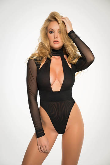 Just a Kiss Sheer Bodysuit