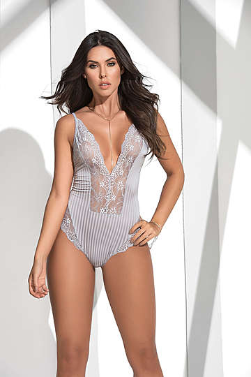 Intricate Lace & Microfiber Teddy