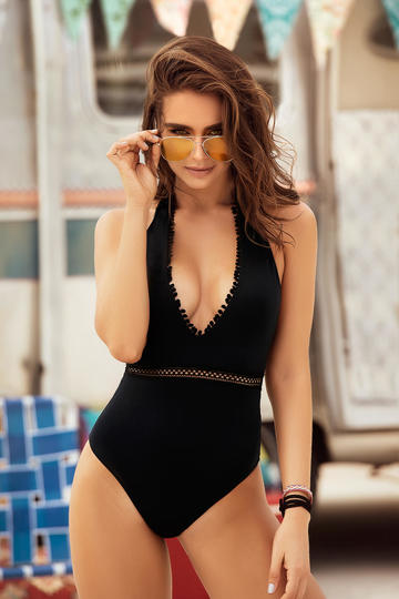 Cheeky Cut Back One Piece Swimsuit