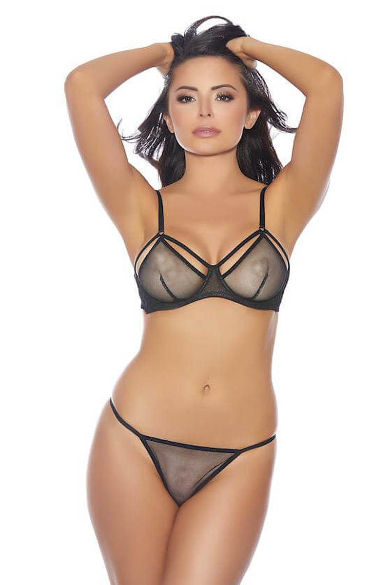 Midnight Fishnet Bralette & Panty Set