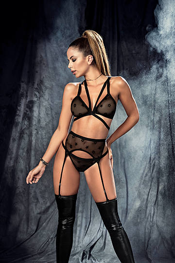 Empowered Sheer Bra & panty Set