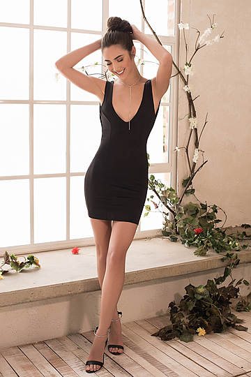 Curvalicious Plunging Mini Dress