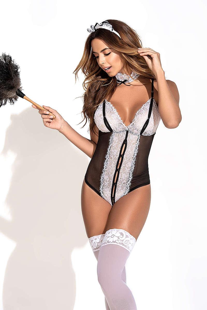 Flirty Fling Maid Lingerie Costume