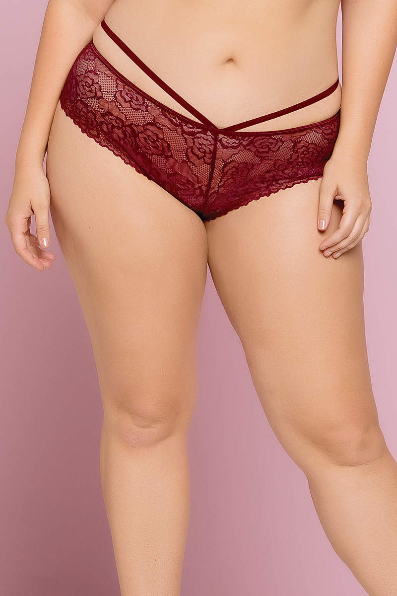 Bianca Galloon Lace Plus Size Panty