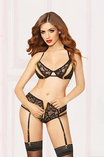 Zip Me Up Bra & Panty Set