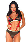 Flirty Fire Fighter Lingerie Costume