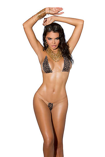 Leopard Print Micro Bikini