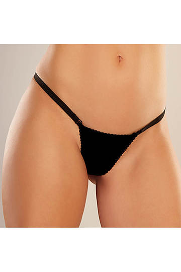 Between the Cheeks Velvet G-String Panty