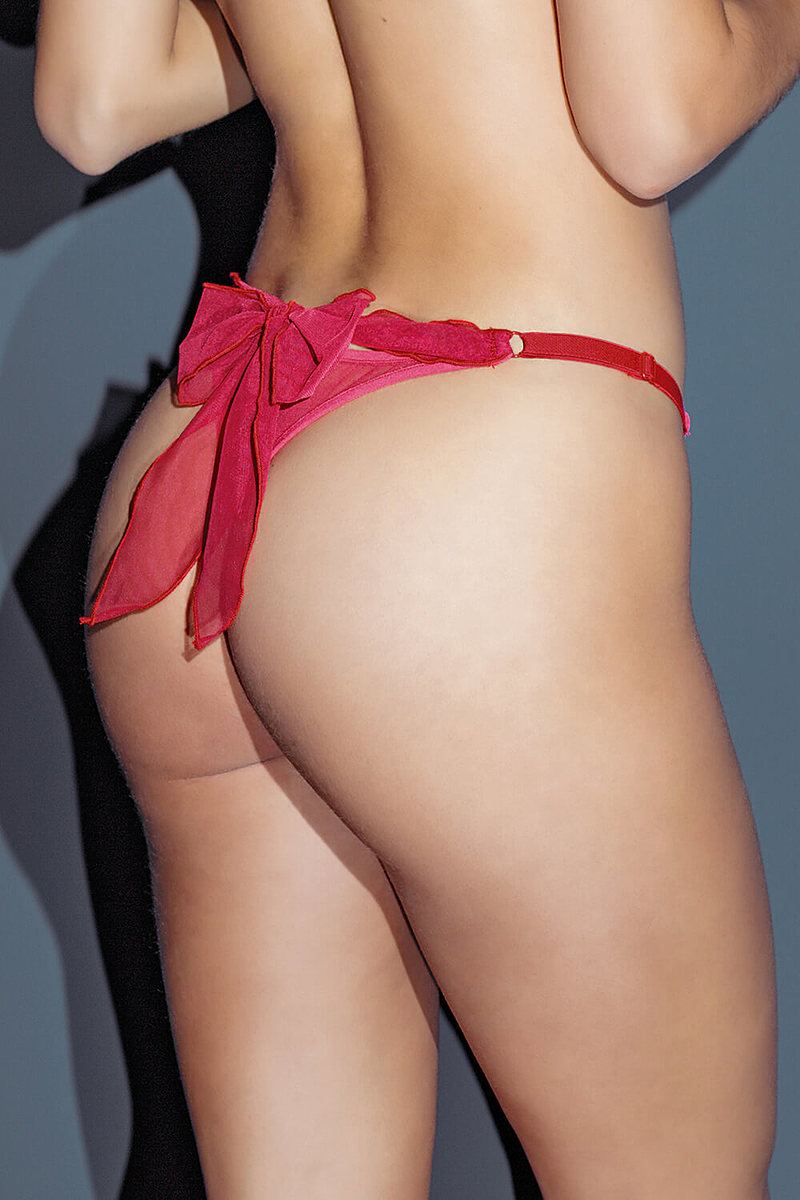 Bow Back Nylon Thong