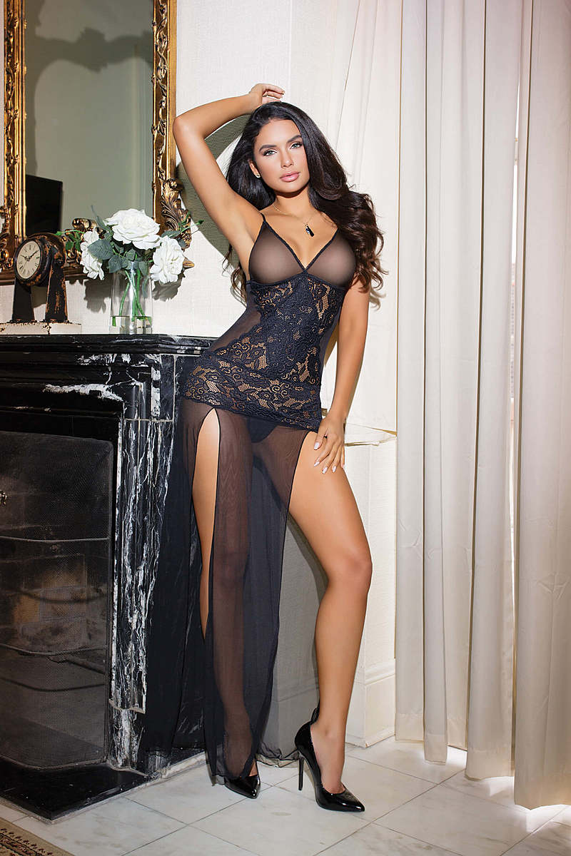 Crossed for Love Sheer Gown