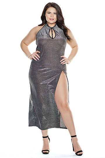 Silver Seduction Plus Size Gown