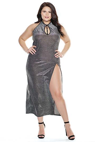 Silver Seduction Plus Size Gown