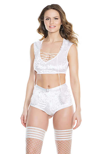 Frosted Love Crop Top & Shorts Set