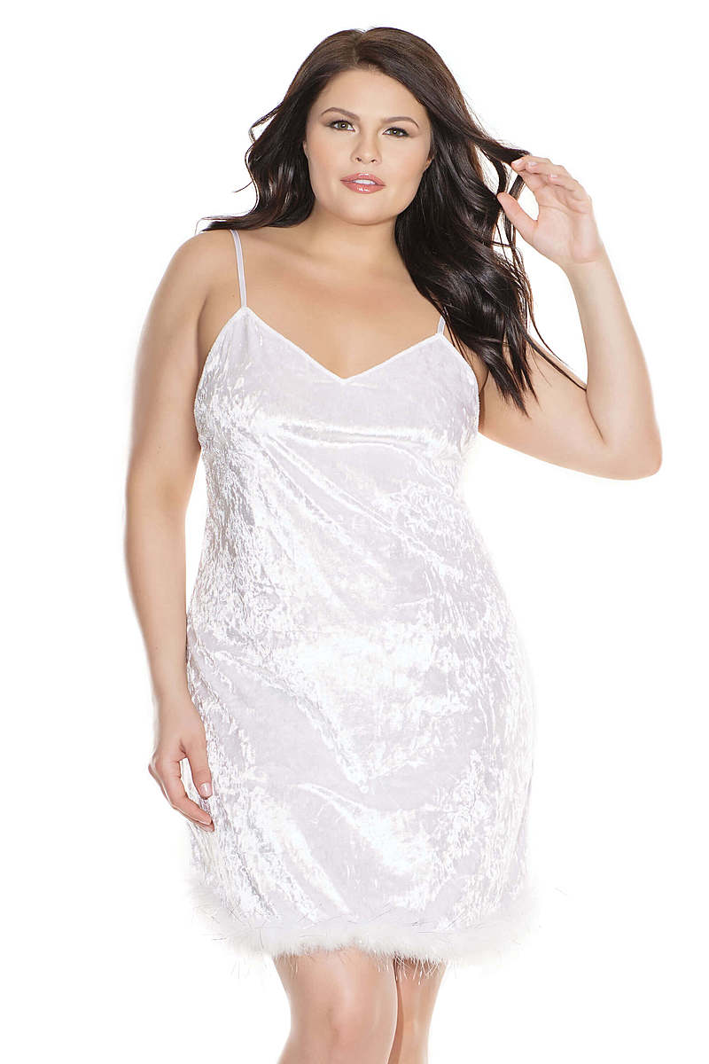 Frosted Love Plus Size Mini Dress