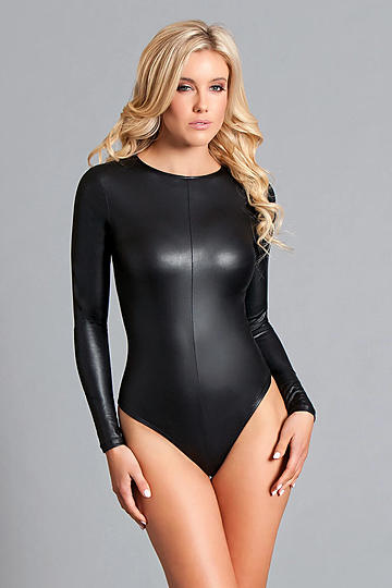 Viola Wet Look Bodysuit