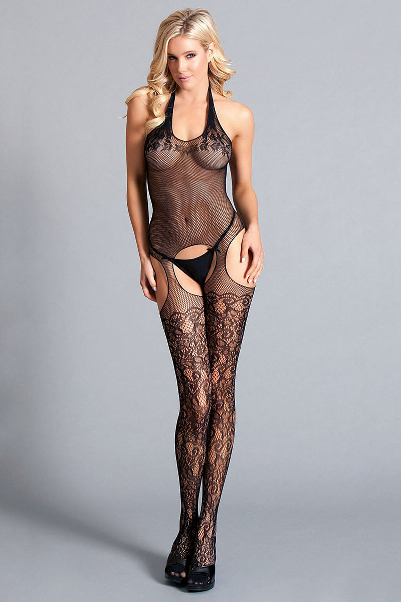 Lace Race Body Stocking
