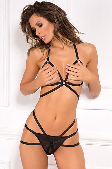 Misbehave Open Cup Bra & Panty Set