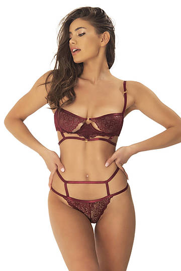 Violetta Bra & High Waist Panty Set