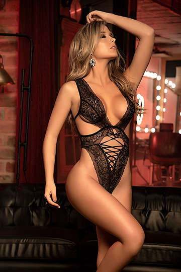 Exquisite Lace Up Teddy