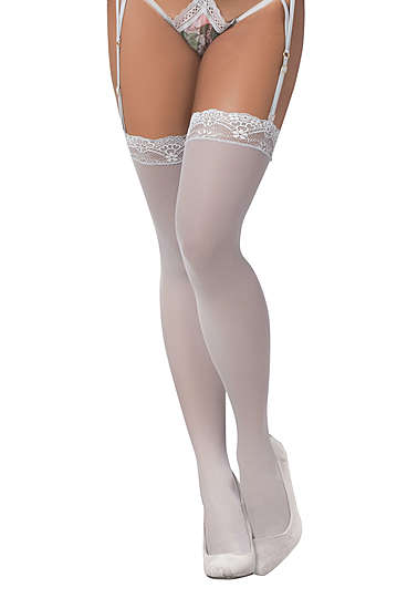 Shoreline Grey Thigh Highs