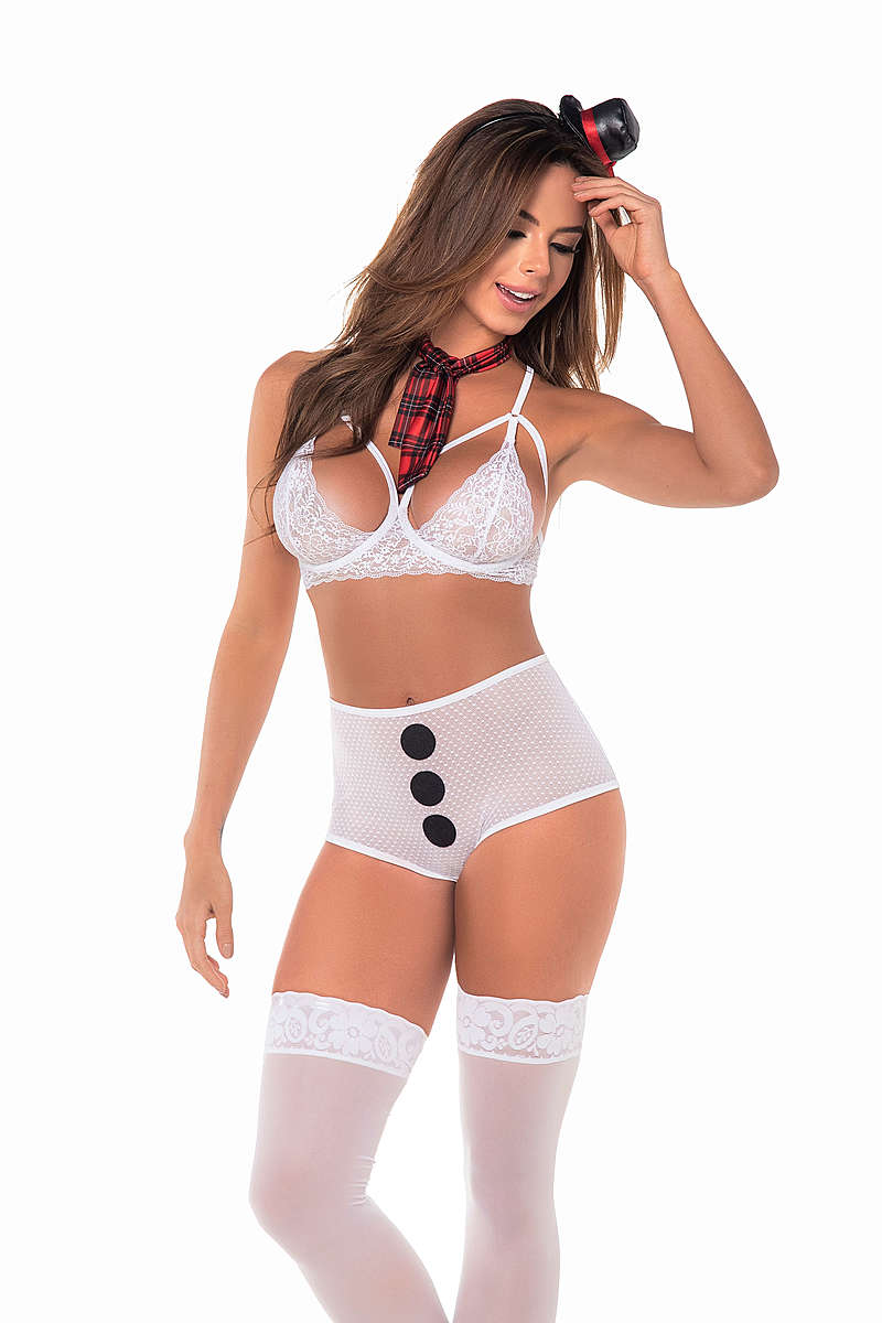 Snowgirl Lingerie Costume