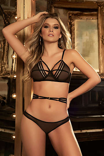 Sophisticated in Stripes Lingerie Set
