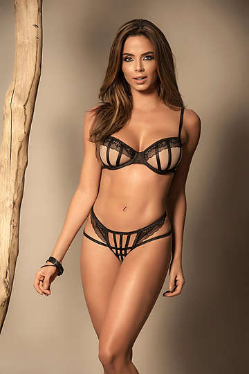 Straps of Detail Lingerie Set