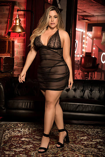 Plus Size Sublime Babydoll & G-String Set