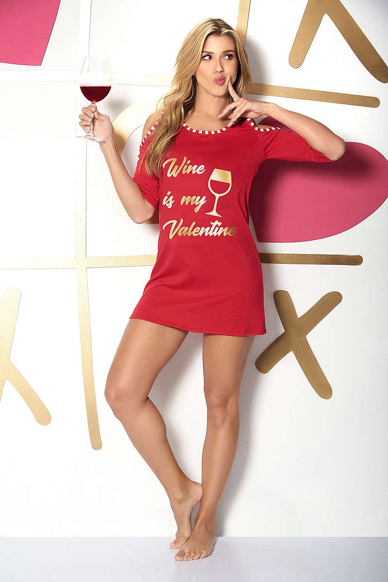 Wine is My Valentine Sleep Shirt