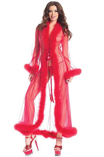 Marabou Sheer Robe
