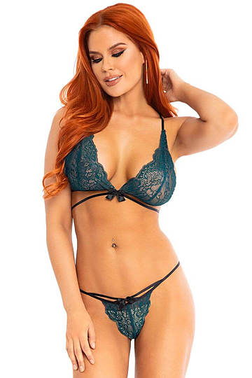 Teal Bra & Panty Set