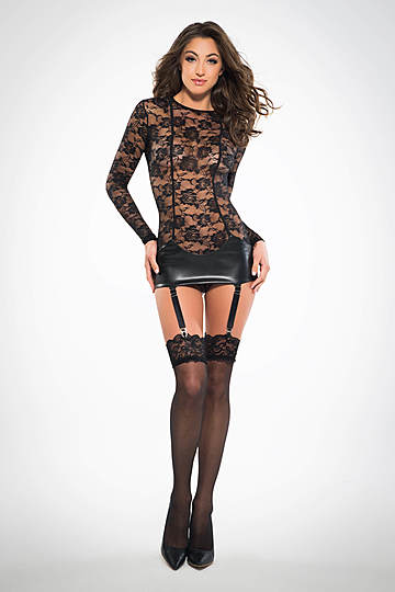 Lace Corselette Garter Dress