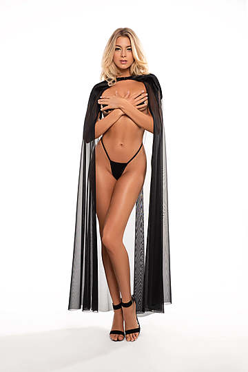 Kiss Me Again Sheer Cape