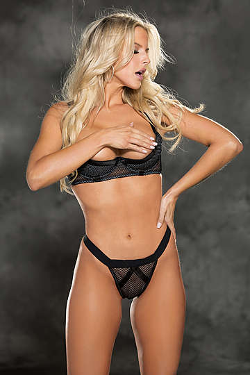 Empowered Open Cup Shelf Bra Set