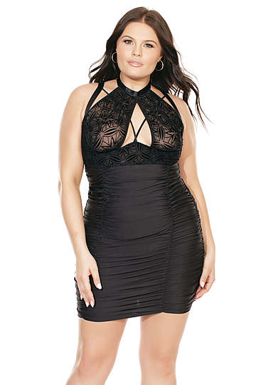 Plus Size Ruched Skirt Chemise