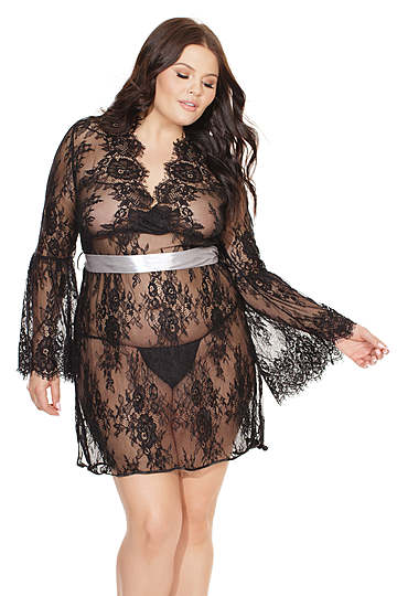 Plus Size Bell Sleeved Chemise