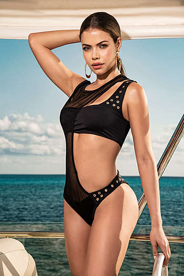 Sheer Illusion Two Piece Swimsuit
