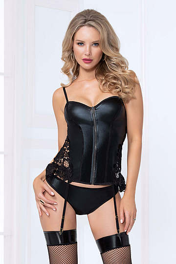 Slick Seduction Bustier Set