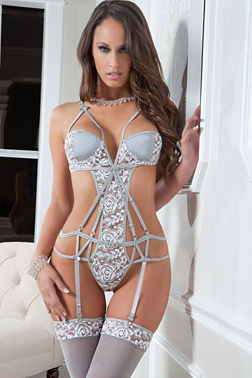 Strappy Chantilly Teddy