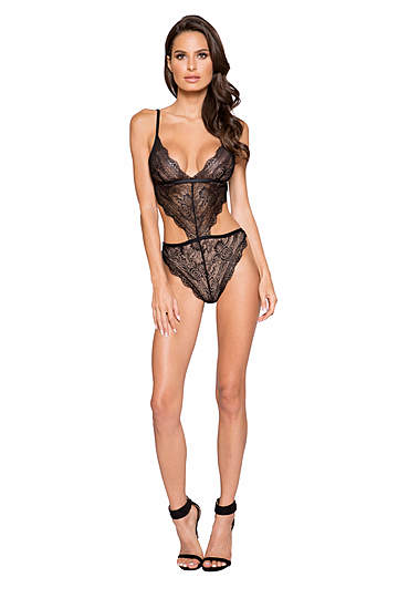 Luscious Lace Cutout Teddy