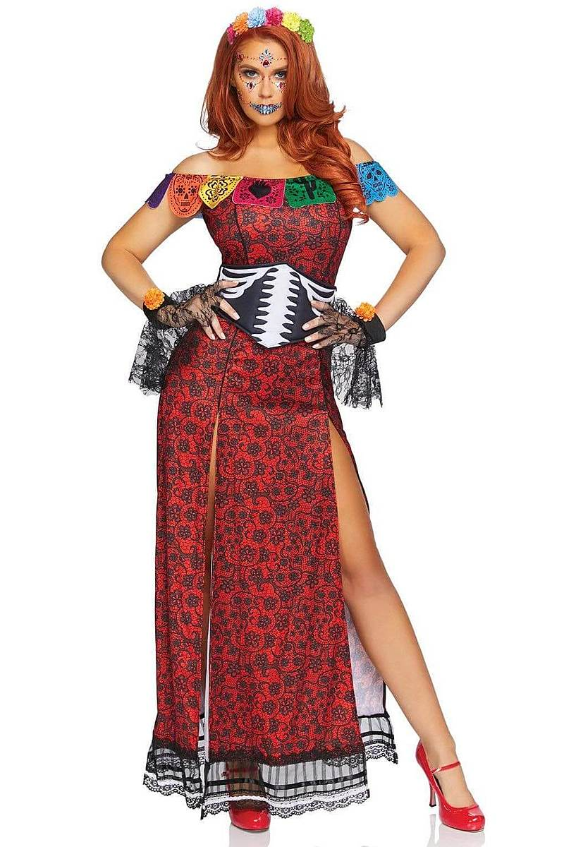 Deluxe Day of the Dead Sexy Costume