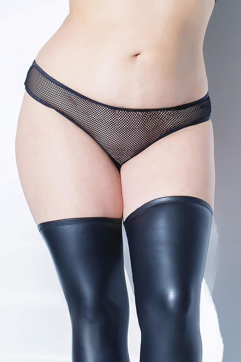 Fishnet Crotchless Plus Size Panty