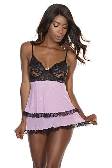 Flirty Lace Babydoll Set