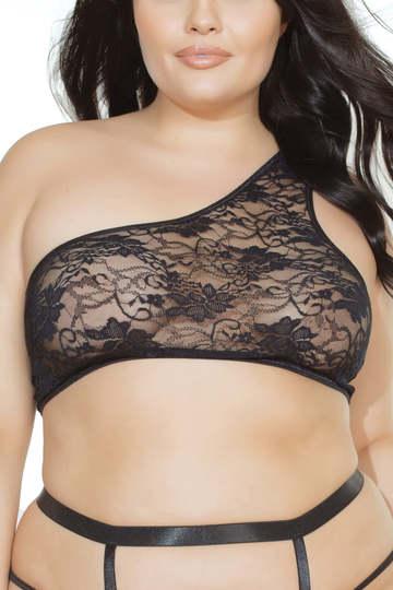 Plus Size Asymmetrical Off-Shoulder Bra