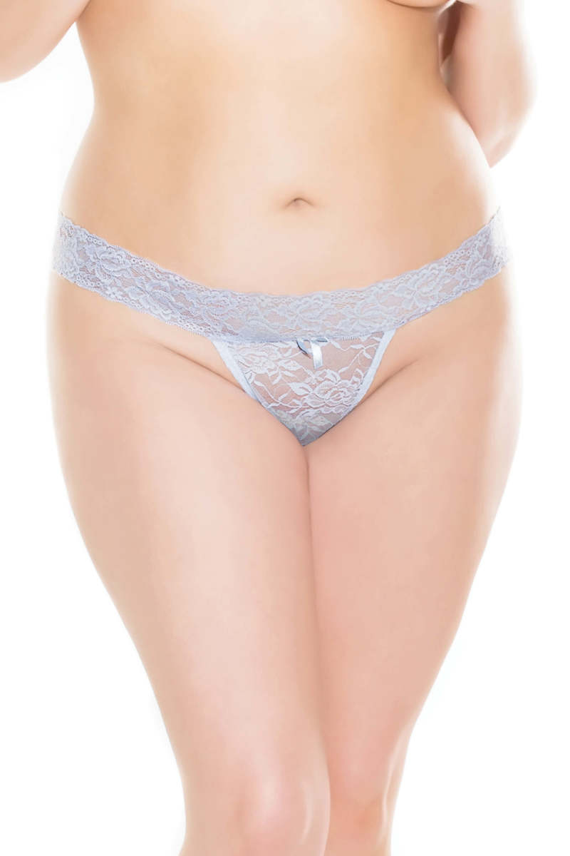 Plus Size Something Blue Thong