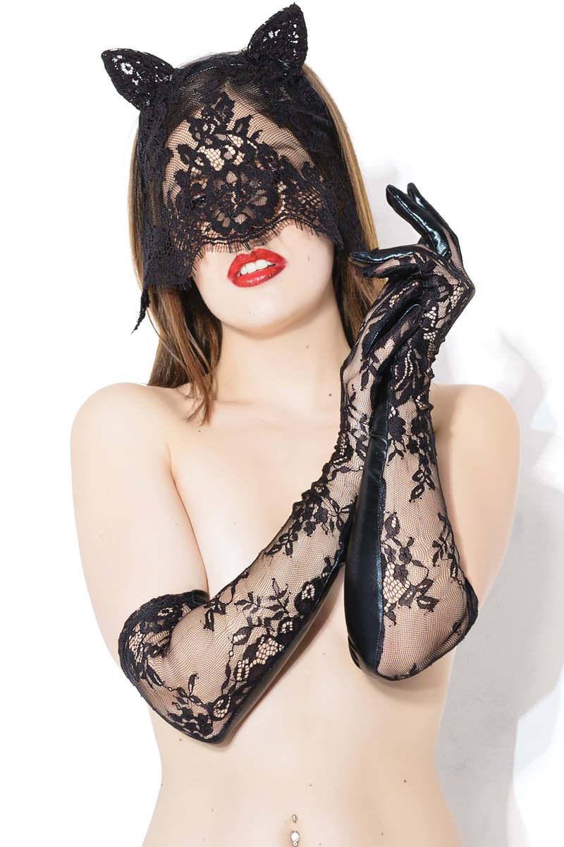 Sex Kitten Mask & Glove Set