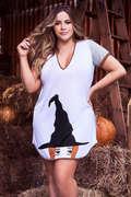Plus Size Witch Way Sleep Shirt