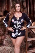 Plus Size Sexy Skeleton Romper