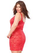 Plus Size Stretch Lace Tank Dress